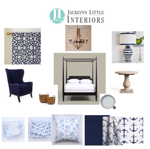 Concept for Blue and White Bedroom